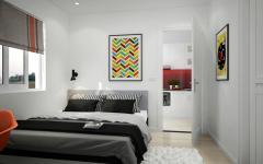 chambre à coucher appartement fonctionnel scandinave