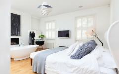 chambre style et classe en blanc et gris