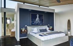 chambre à coucher design marin aquatique déco
