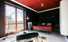 appartement moderne chambre en rouge