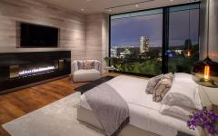 suite chambre à coucher avec vue sur la ville
