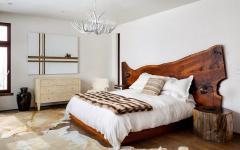 tête de lit original design rustique bois brut