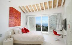 chambre à coucher balcon vue mer