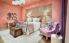 Ambiance romantique chambre en rose