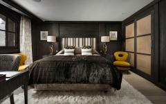 intérieur chambre douillet et chic chalet rustique luxe