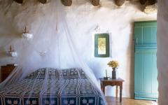 Chambre rustique maison grecque