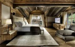 chambre design rustique chalet luxe courchevel