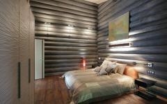 chambre maison en bois design