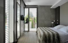 chambre à coucher gris béton