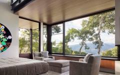 chambre avec vue sur paysage nature
