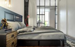 chambre à coucher déco design verrière