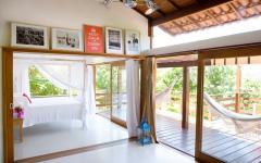 ouverture baie vitrée villa de luxe à louer