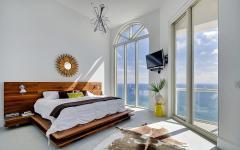 Chambre exotique vue sur mer