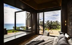 vue panoramique depuis chambre villa de luxe