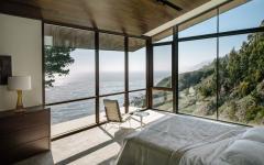 chambre à coucher ameublement minimaliste belle vue panoramique