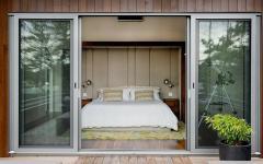 chambre avec vue panoramique lac chalet en bois