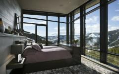 chambre unique vue sur la montagne