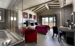chambre avec vue résidence de ski luxe