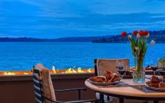 maison rustique de luxe au bord de lac