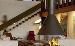 Belle cheminée de designer pour un séjour de luxe