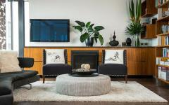 intérieur au touches retro petit appartement luxueux