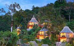 village exotique villa de luxe avec vue splendide