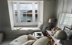 coin lecture vue sur mer et port Cornouailles cottage