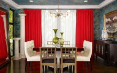 salle à manger papier peints plafond