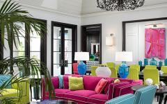 intérieur couleurs pétillante design créatif maison moderne