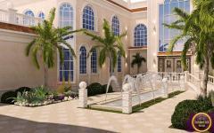 fontaines d'entrée de résidence de haut standing Orient