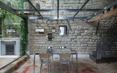 salle à manger plafond verre trempé duplex design moderne
