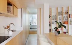 cuisine moderne dissimulée en bois