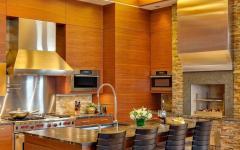 cuisine américaine rustique de luxe