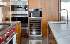 cuisine placards bois maison rustique design