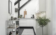 cuisine séparé petit appartement de ville