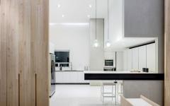 cuisine ouverte aménagé déco placards minimaliste