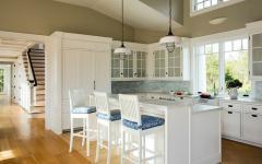 cuisine design blanc maison de charme