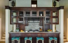 cuisine bois exotique turquoise