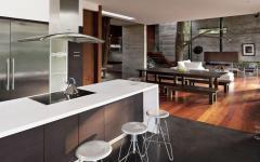 cuisine salle à manger séjour maison de luxe de ville citadine