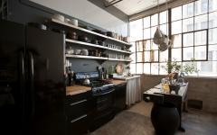 cuisine design industriel loft citadin