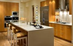 cuisine placards en bois massif moderne