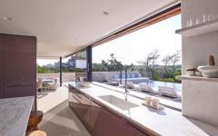 baies vitrées coulissantes maison de plage luxe