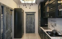intérieur moderne cuisine noire