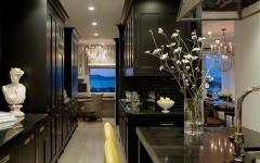 belle demeure cuisine design noir