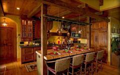 cuisine rustique maison de vacances