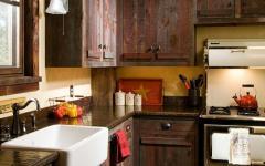 cuisine aux placards brut rustiques