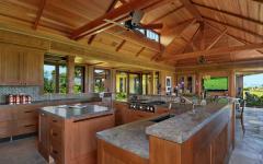 cuisine bois tropical maison moderne