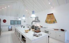 design cuisine placards décoration tropicale location de vacances villa