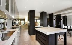 cuisine luxe blanc et noir