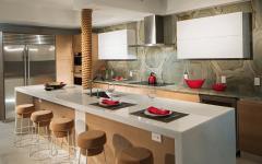 belle cuisine américaine appartement luxe